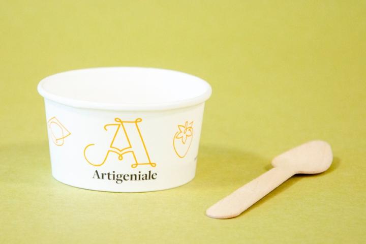 packaging ecosostenibile per il gelato